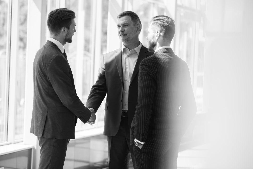 consultants shaking hands