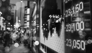 city picture of stock ticker
