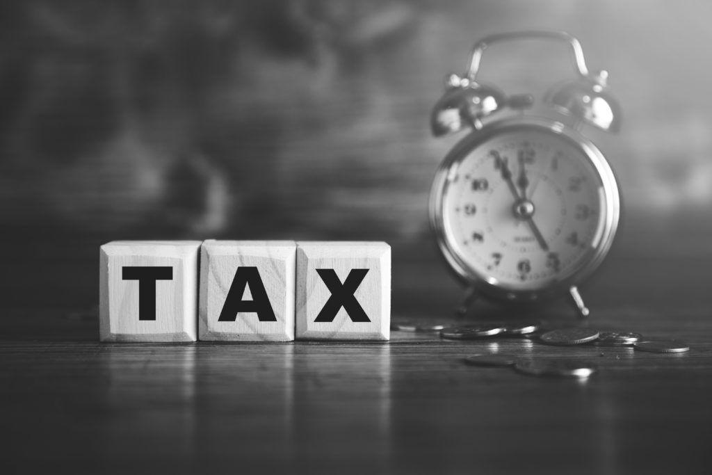tax blocks with clock
