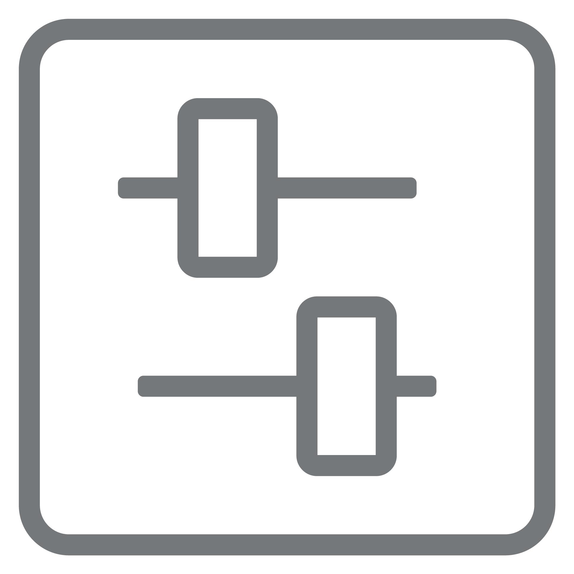 sliders-h-square