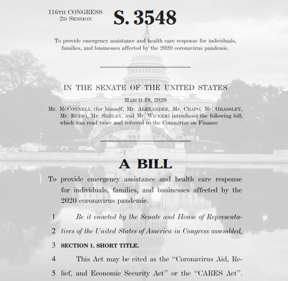 Cares act bill