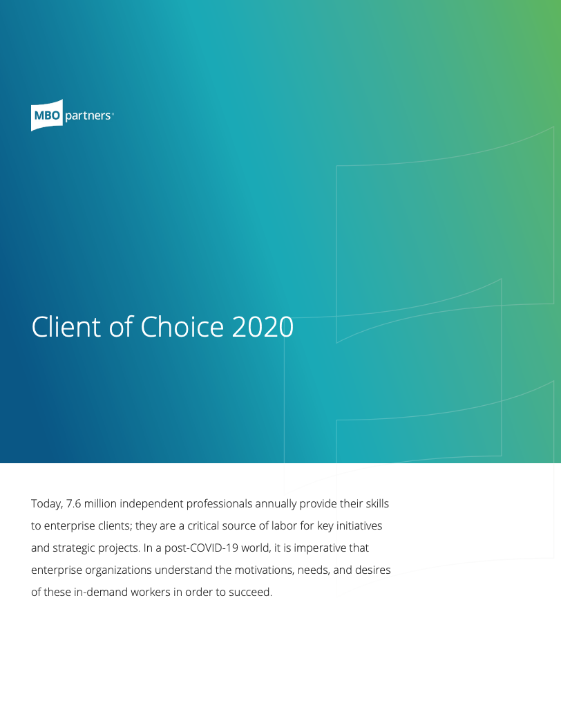 MBO Partners Client of Choice 2020