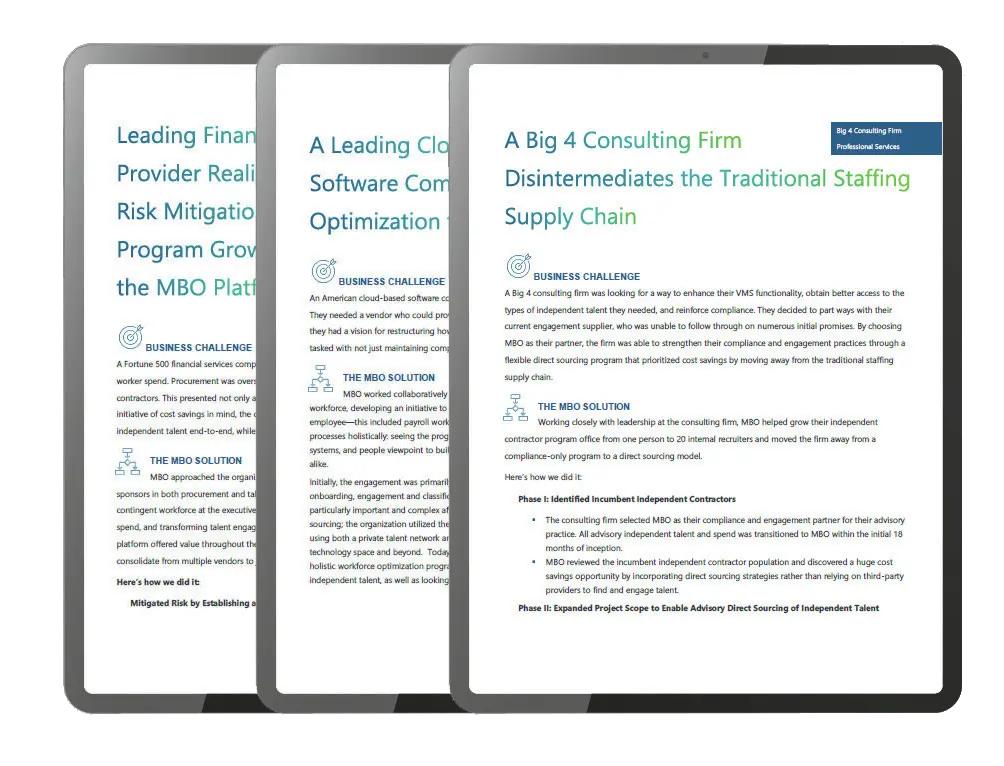Case studies on independent workforce optimization