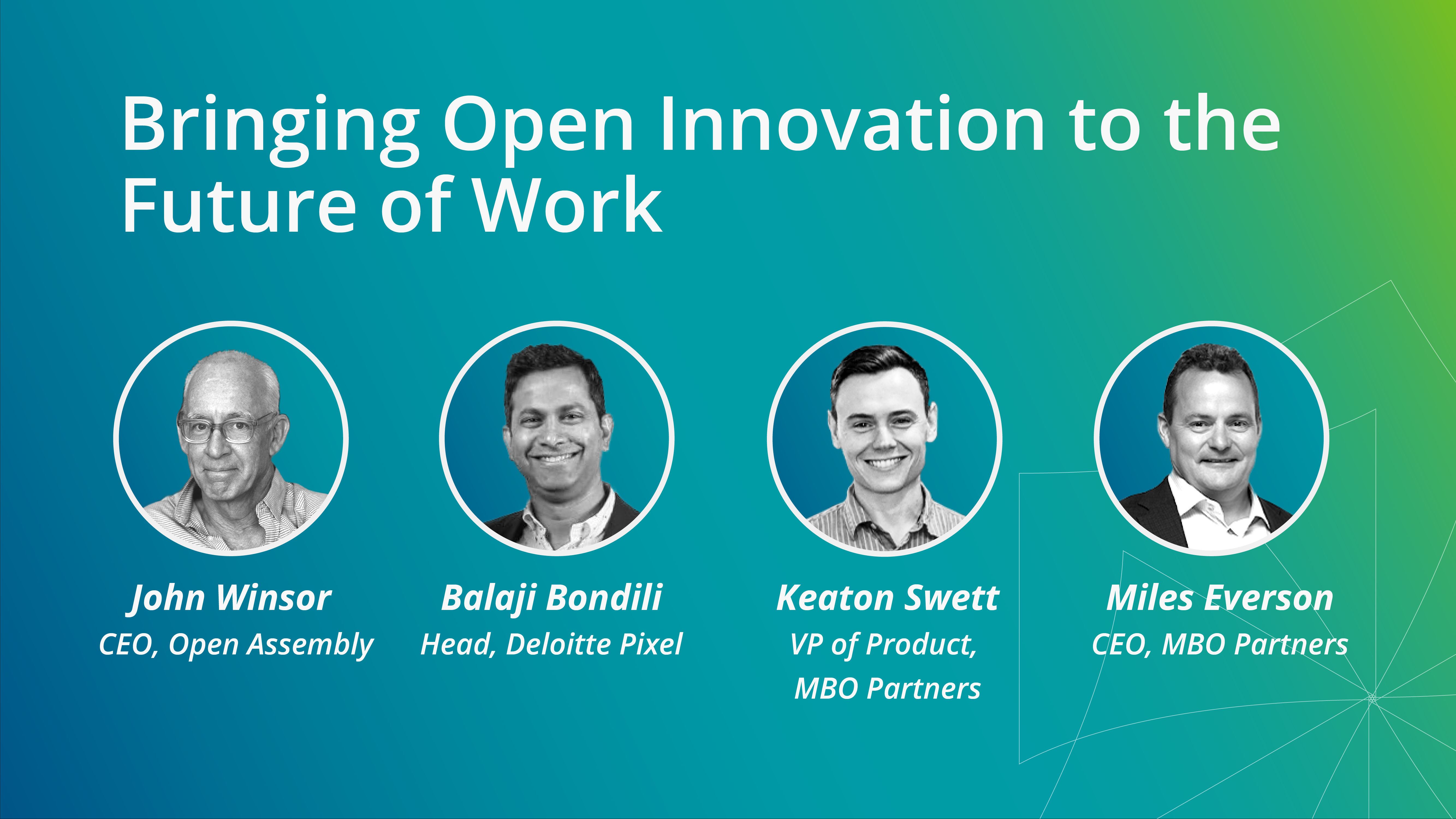 Bringing Open Innovation to the Future of Work