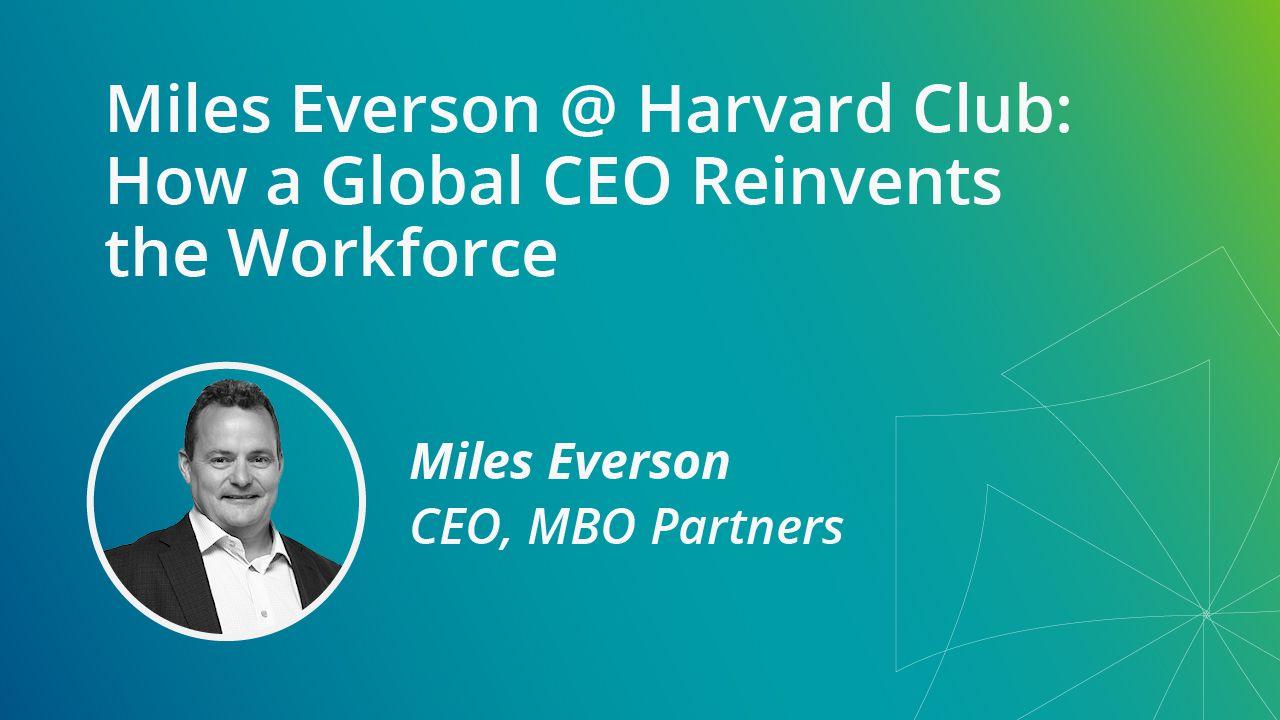MBO - Miles Everson @ Harvard Club of Boston
