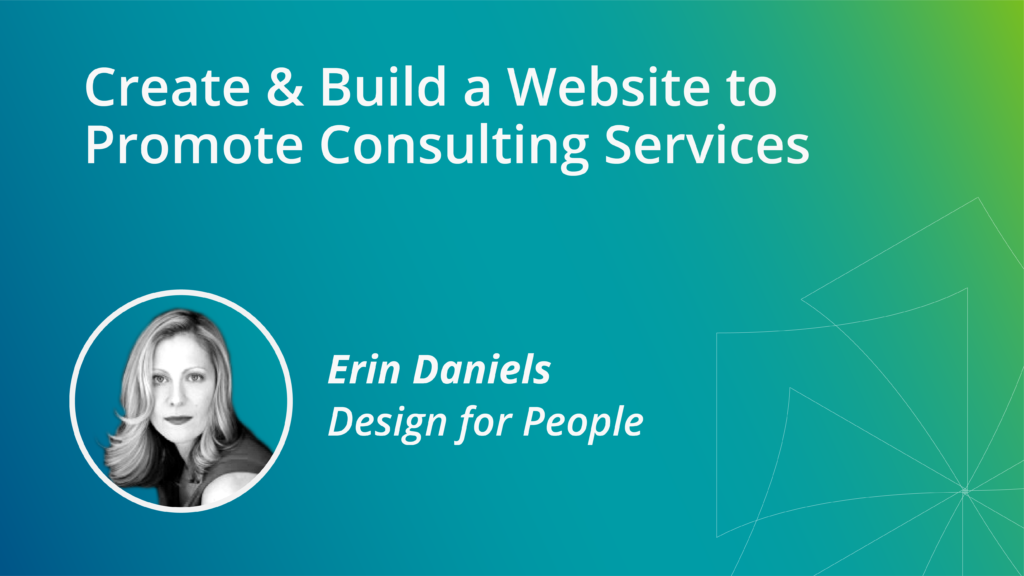 Create & Build a Website to Promote Consulting Services